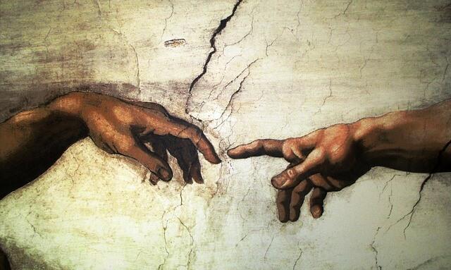 Fragment fresku Michała Anioła