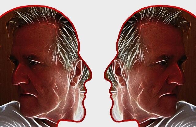 Kontury dwóch twarzy