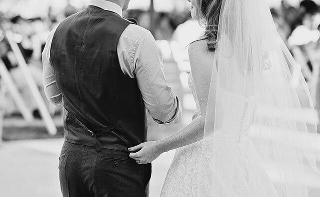 para młoda zaraz po ślubie