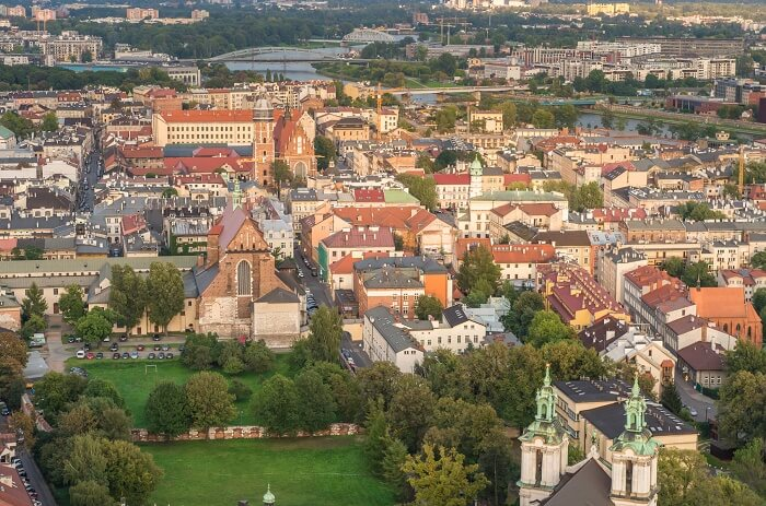 Widok na krakowski Kazimierz