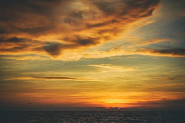 Zachód słońca na Helu