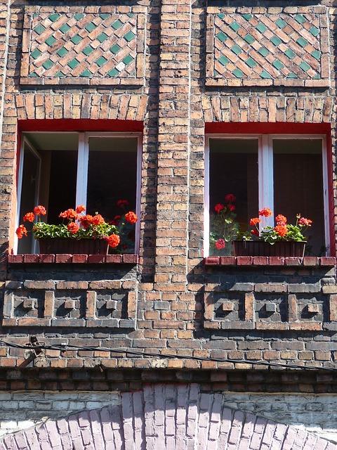 Nikiszowiec fasada okna