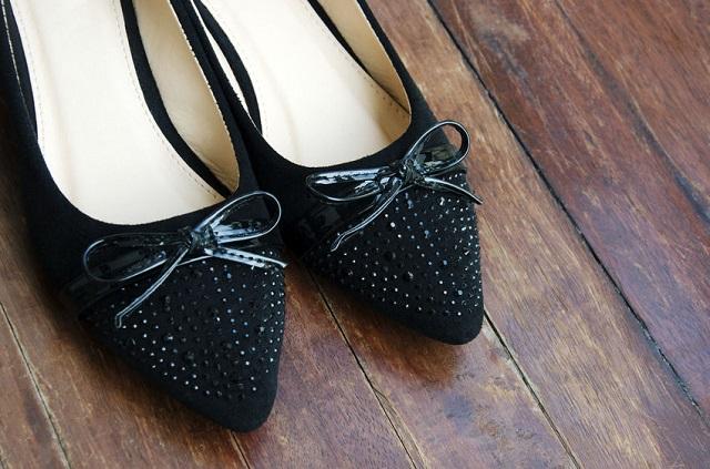 czarne buty baleriny