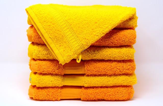 Żółte ręczniki